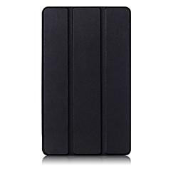 caja de cuero de grano de seda ultra delgado para Huawei honor a 2 jdn-AL00 / w09 tableta de 8,0 soporte cala