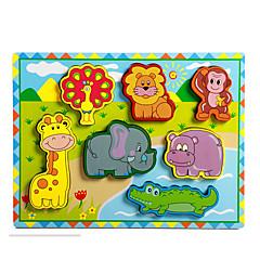 직소 퍼즐 교육용 장난감 / 직쏘 퍼즐 빌딩 블록 DIY 장난감 코끼리 / 황소 / 말 8 나무 무지개 레져 취미용품