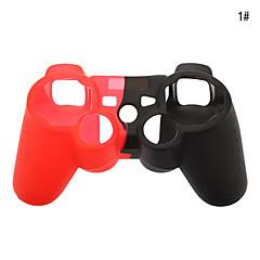 PS3의 컨트롤러에 대한 실리콘 스킨 케이스 (모듬 된 색상)
