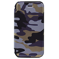 For Pung / Kortholder Etui Heldækkende Etui Camouflage Hårdt Kunstlæder for AppleiPhone 7 Plus / iPhone 7 / iPhone 6s Plus/6 Plus /