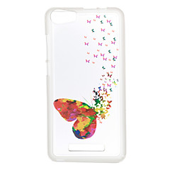 For Wiko Lenny 3 Sunset 2 Case Cover Butterfly Pattern Back Cover Soft TPU Lenny 3 Sunset 2
