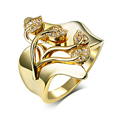Jewelry Wedding rings 18K Gold Plated Clear White crystal Cubic Zirconia Micro Pave Setting Fashion for women
