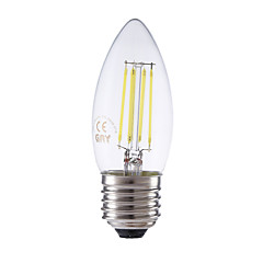 3.5W E27 LED Filament Bulbs B35 4 COB 400/350 lm Warm White / Cool White Dimmable AC 220-240 V 1 pcs