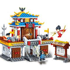 Actionfigurer og kosedyr / Byggeklosser for Gift Byggeklosser Modell- og byggeleke Kinesisk arkitektur / Hus / Arkitektur ABS5 til 7 år /