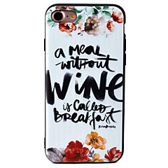 For Apple iPhone 7 7Plus 6S 6Plus Case Cover Letter Pattern TPU Material Painted Relief Phone Case