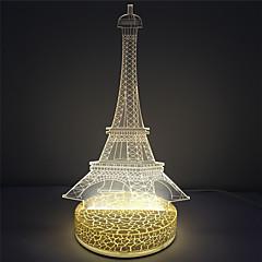 Holiday Decoration Tower Design 3D Illusion Led Acrylic Night Light