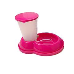 고양이 / 강아지 먹이 애완동물 그릇 & 수유 휴대용 / 폴더 블루 / 브라운 / 핑크 플라스틱 / 고무