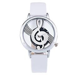 Men's Women's Couple's Unisex Fashion Watch Wrist watch Unique Creative Watch Quartz PU Band Vintage Casual Black White Brand