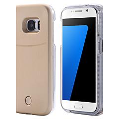 Varten Samsung Galaxy S7 Edge kotelot kuoret LED Takakuori Etui Yksivärinen Kova PC varten Samsung S7 edge S7 S6 edge plus S6 edge S6