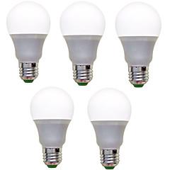 9W E26/E27 Żarówki LED kulki A60(A19) 12 SMD 2835 850 lm Ciepła biel Zimna biel Dekoracyjna AC 220-240 V 5 sztuk