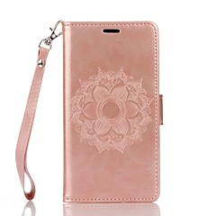 Full Body Mandala Embossed Leather Wallet for Wiko lenny2 lenny3