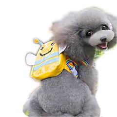 Gato Perro Paquete de perro Mascotas Portadores Portátil Adorable Amarillo Tejido