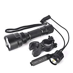 Φωτισμοί Φακοί LED Φώτα Ποδηλάτου LED 5000 Lumens 1 Τρόπος Cree XM-L T6 18650 Αντιολισθητική λαβή Μικρό Μέγεθος Εξαιρετικά Ελαφρύ Zoomable
