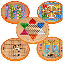 Brettspill / sjakkspill / Pedagogisk leke for Gift Byggeklosser Hobbyprodukter Sirkelformet / Firkantet Tre2 til 4 år / 5 til 7 år / 8