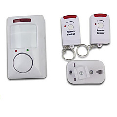 System bezprzewodowego ruchu wykrywania podczerwieni alarm dwa piloty dla bezpieczeństwa w domu