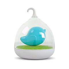 נטען USB צבעוני ציפור בכלוב 3D LED מנורת לילה תינוק ליד מנורות תאורת לילה חיישן רטט דימר