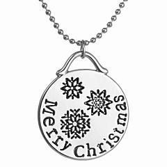 Dames Hangertjes ketting Legering Cirkelvorm Bohemia Style Modieus Zilver Sieraden Dagelijks Kerstcadeaus 1 stuks