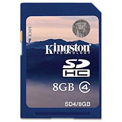 Kingston 8GB SD Karten Speicherkarte Class4