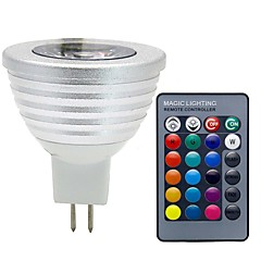 3W GU5.3 (MR16) LED-spotlampen MR16 1 COB 300 lm RGB Dimbaar Op afstand bedienbaar Decoratief DC 12 V 1 stuks