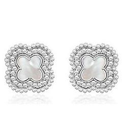 Stud Earrings Jewelry Women Men Party Alloy 1pc Silver