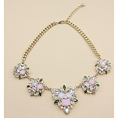 Necklace Imitation Ruby Collar Necklaces Jewelry Daily Casual Flower Flower Style Crystal Women 1pc Gift As Per Picture