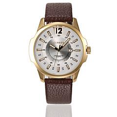 Masculino Relógio Esportivo Relógio Elegante Relógio de Moda Quartzo Calendário Impermeável Couro Legitimo Banda Casual Cores Múltiplas