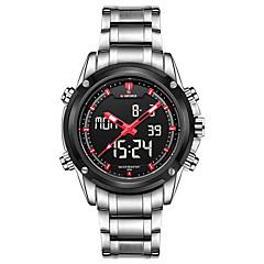 Herr Sportsklocka Militärklocka Frackur Modeklocka Armbandsur Digital klocka Quartz Digital Kalender Legering BandVintage Berlock Fritid