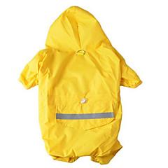 Σκύλος Αδιάβροχο Πάλτο Ρούχα για σκύλους Αδιάβροχη Αθλήματα Μονόχρωμο Κίτρινο Κόκκινο Μπλε Χρώμα Παραλλαγής