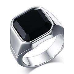 남성용 문자 반지 새해 맞이 오닉스 패션 의상 보석 스테인레스 애것(마노) 보석류 제품 일상 캐쥬얼