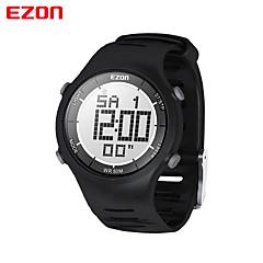 남성 패션 캐주얼 디지털 시계 30m 방수 디지털 듀얼 타임 스톱워치 야외 스포츠 손목 시계이지 온 l008