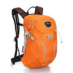 15 L 배낭 수렵 등산 레저 스포츠 사이클링/자전거 캠핑&등산 여행 학교 방수 방수 지퍼 통기성 전화/Iphone 방습 미끄럼 방지 충격방지 물 방광을 포함 나일론 메쉬