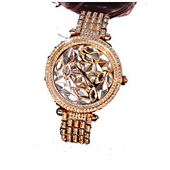 Női Divatos óra Szimulált Gyémánt Karóra Kvarc Naptár utánzat Diamond ötvözet Zenekar Szikra Vörös arany