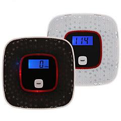 alarm sistemi için ortak karbon monoksit gaz alarm sensörü zehirlenmesi duman gazı test insan sesi uyarı dedektörü lcd ekran