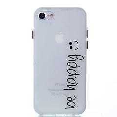 Varten Hehkuu pimeässä Etui Takakuori Etui Sana / lause Pehmeä TPU varten AppleiPhone 7 Plus iPhone 7 iPhone 6s Plus/6 Plus iPhone 6s/6