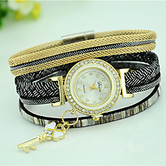 Women's Bracelet Watch Quartz Leather Band Casual Black White Blue Red Brown Pink Brand