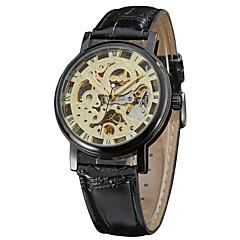 Herren Damen Unisex Sportuhr Kleideruhr Modeuhr Armbanduhr Mechanische Uhr Kalender Mechanischer Handaufzug Echtes Leder Band