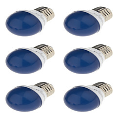 YouOKLight 6pcs Romantic Style E27 3W 250lm 6-SMD 2835 LED  Red /Blue/Green/Yellow Holiday Light Bulb