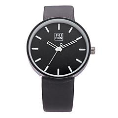 Hombre Mujer Unisex Reloj Deportivo Reloj de Vestir Reloj de Moda Reloj de Pulsera Cuarzo Cuero Auténtico Banda Encanto CasualMúltiples