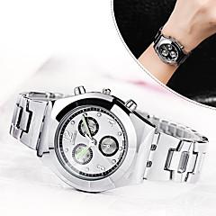 Mulheres Relógio Elegante Relógio de Moda Simulado Diamante Relógio Quartzo / imitação de diamante Lega Banda Casual Elegantes Prata