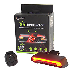 Kerékpár világítás LED Laser LED Kerékpározás Távirányító Vízálló Szuper könnyű Lítium akkumulátor 80 Lumen AkkumulátorKerékpározás