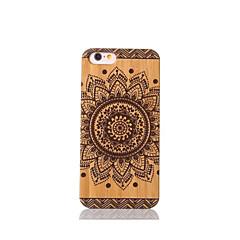 Varten Iskunkestävä Etui Takakuori Etui Mandala Kova Bambu varten Apple iPhone 6s/6