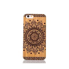 Na Odporne na wstrząsy Kılıf Etui na tył Kılıf Mandala Twarde Bambus na Apple iPhone 6s/6