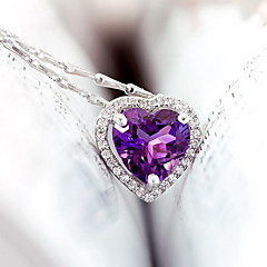 Pendants Crystal Gem Basic Unique Design Heart Fashion Lavender Jewelry Daily 1pc