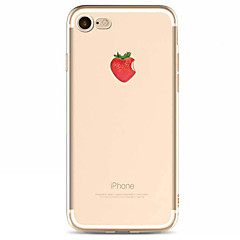 For Apple iPhone 7 7 Plus  6s 6 Plus  SE 5S Case Cover Strawberry Pattern TPU Material Painted High Penetration Simple Phone Case