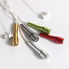 no Kablolu Karaoke Mikrofonu 3.5mm Gri Yeşil Kırmızı Gümüş Altın