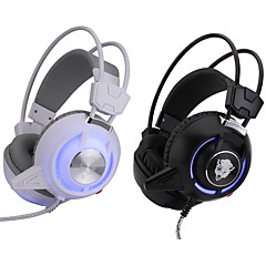 3,5 mm top kvalitet gaming headset stereo hovedbøjle hovedtelefon med LED lys vibrationer dj