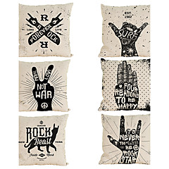 Set of 6 Rock series pattern  Linen Pillowcase Sofa Home Decor Cushion Cover