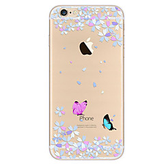 For Ultratyndt Mønster Etui Bagcover Etui Sommerfugl Blødt TPU for Apple iPhone 7 Plus iPhone 7 iPhone 6s Plus/6 Plus iPhone 6s/6
