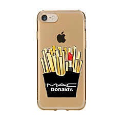 For Transparent Pattern Case Back Cover Case French Fries Cartoon Soft TPU for IPhone 7 7Plus iPhone 6s 6 Plus iPhone 6s 6 iPhone 5s 5 5E 5C