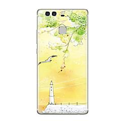 Mert Minta Case Hátlap Case Látvány Puha TPU mert Huawei Huawei P9 Huawei P9 Lite Huawei P9 Plus Huawei P8 Huawei P8 Lite